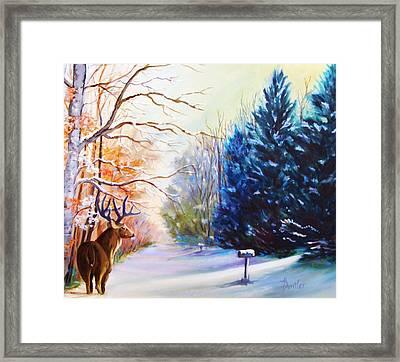 Deer Season Framed Print by Anne Dentler