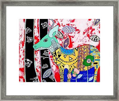 Deer Seeker Framed Print