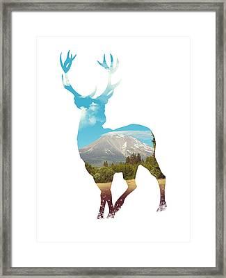 Deer Silhouette 01 Framed Print