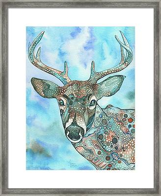 Deer Framed Print by Tamara Phillips