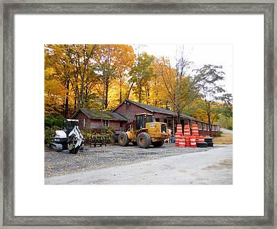 Deer Tractor  Framed Print