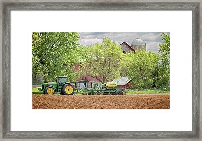 Framed Print featuring the photograph Deere On The Farm by Susan Rissi Tregoning
