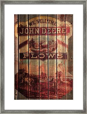 Deere Walking Cultivator Framed Print