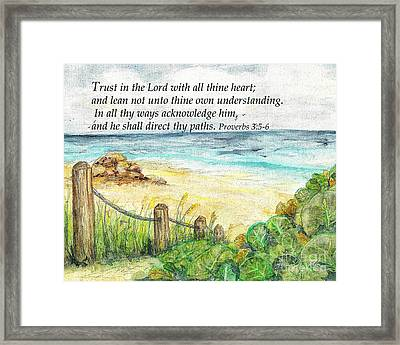 Deerfield Beach Sea Grapes Proverbs 3 Framed Print