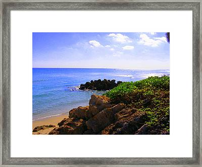 Framed Print featuring the photograph Deerfield Beach by Artists With Autism Inc
