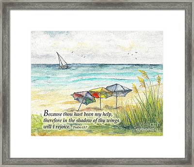 Deerfield Beach Umbrellas Psalm 63 Framed Print