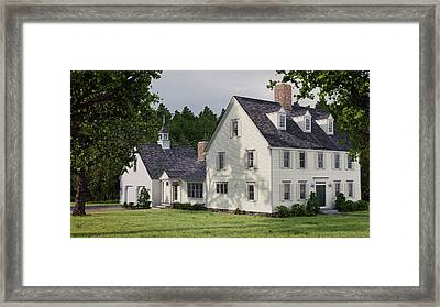 Deerfield Colonial House Framed Print