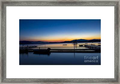 Deerwood Sunrise Framed Print by Edward Fielding