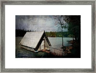 Dee's Little Boat House  Framed Print by Pamela Patch
