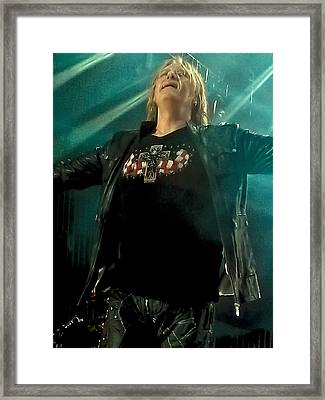 Def Lappard's Joe Elliott Framed Print by David Patterson