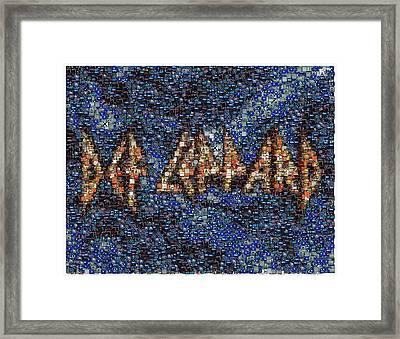 Def Leppard Albums Mosaic Framed Print
