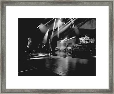 Def Leppard At Saratoga Springs 2 Framed Print
