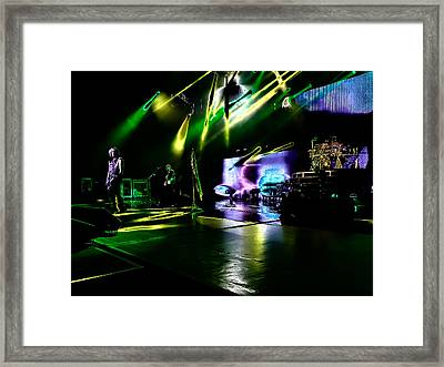 Def Leppard At Saratoga Springs 4 Framed Print by David Patterson
