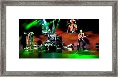 Def Leppard On Stage Framed Print