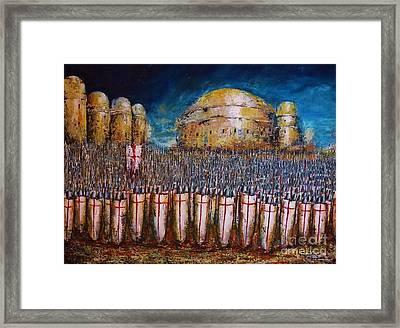 Defence Of Jerusalem Framed Print by Kaye Miller-Dewing