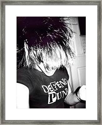 Framed Print featuring the photograph Defend Punk by Jane Autry