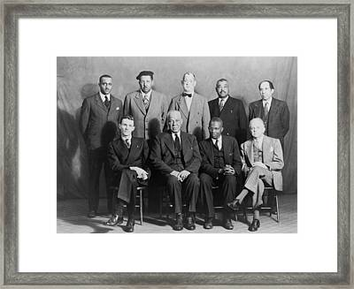 Defendants And Naacp Counsel Framed Print