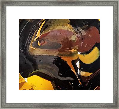 Defender Of The Universe Eating Sour Cream Framed Print by Gyula Julian Lovas
