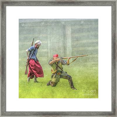 Defending Hearth And Home Framed Print
