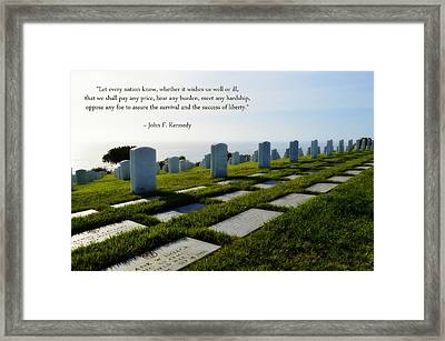 Defending Liberty Framed Print by Glenn McCarthy Art and Photography