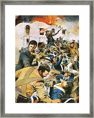 Defending The Alamo Framed Print