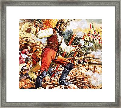 Defending The Alamo Framed Print by CL Doughty