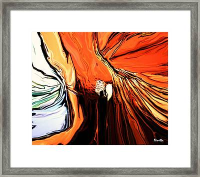 Defense Framed Print by Andrea N Hernandez