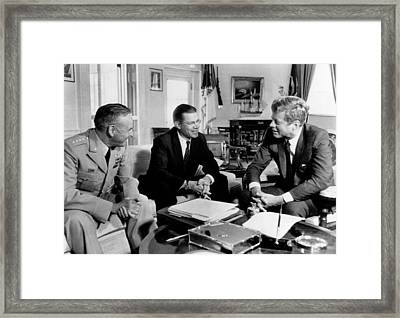 Defense Secretary Robert Mcnamara Framed Print