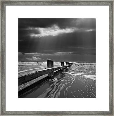 Defensive Framed Print