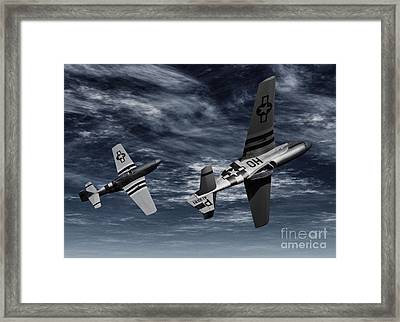 Defensive Split  Framed Print by Richard Rizzo