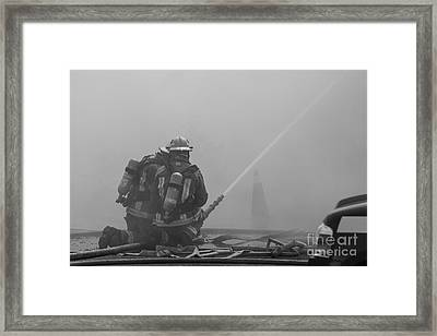 Defensive Teamwork Framed Print
