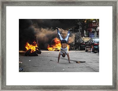 Defiance II Framed Print by Mosaab Elshamy