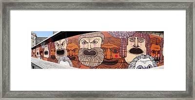 Defiant Graffitti Framed Print