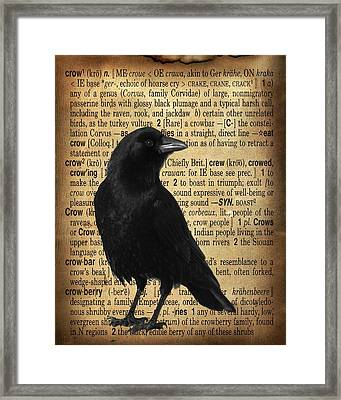 Defining Crow Framed Print