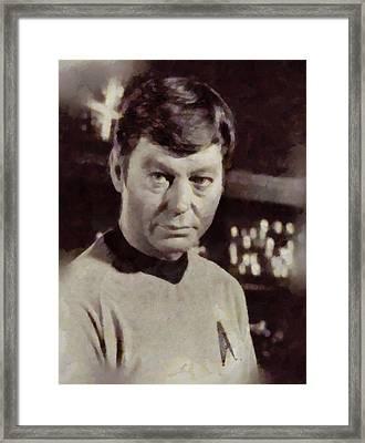 Deforest Kelley, Dr. Mccoy, Star Trek Vintage Framed Print by Sarah Kirk