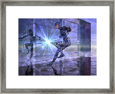 Framed Print featuring the digital art Defy The Boundaries Visible And Invisible by Shadowlea Is