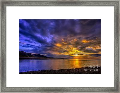Deganwy Sunset Framed Print