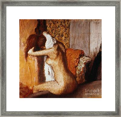 Degas: After The Bath Framed Print by Granger