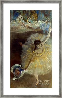 Degas: Arabesque, 1876-77 Framed Print