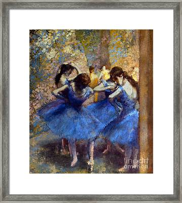 Degas: Blue Dancers, C1890 Framed Print by Granger
