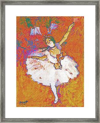 Degas Dancer Framed Print by Robert Bissett