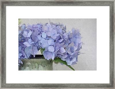 Degas Hydrangea Framed Print by Karen Lynch