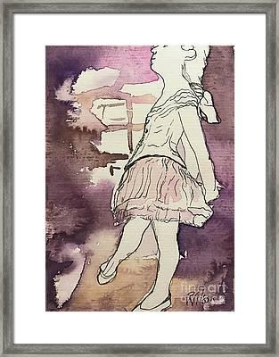 Degas Little Dancer Study Framed Print by D Renee Wilson