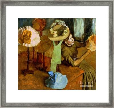 Degas: Milliner, 1879-84 Framed Print