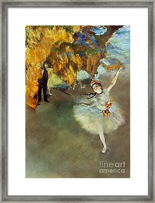 Degas Star, 1876-77. To License For Professional Use Visit Granger.com Framed Print