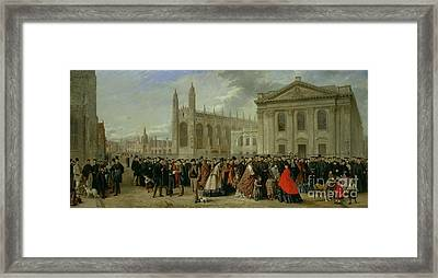 Degree Morning At Cambridge  Framed Print by Robert Farren