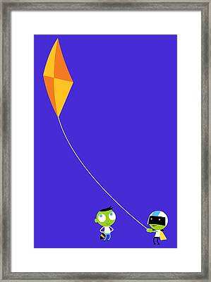Del And Dee Kite Framed Print by Pbs Kids