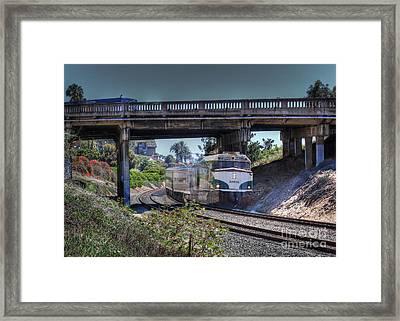 Del Mar Amtrak Framed Print