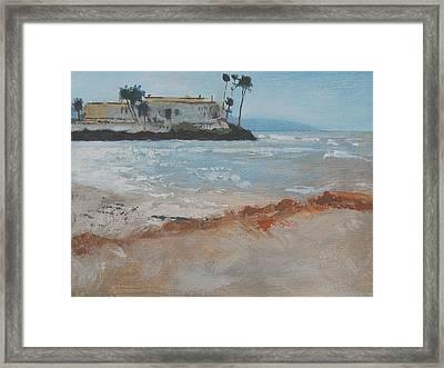 Del Mar Beach Framed Print by Robert Bissett