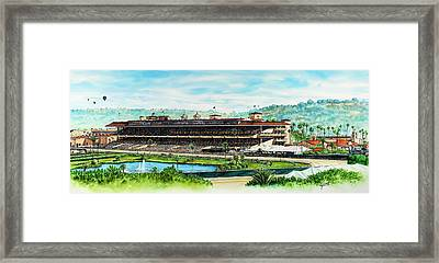 Del Mar Race Track Framed Print by John YATO